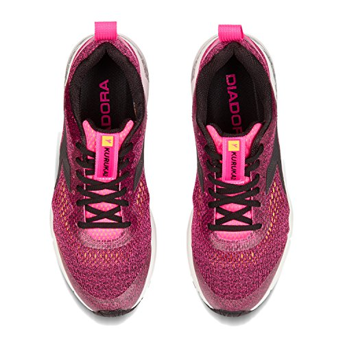 C6403 Shoes Competition Diadora Kuruka W 2 BLACK NEON PINK Women's Running RxqYIOYa0w