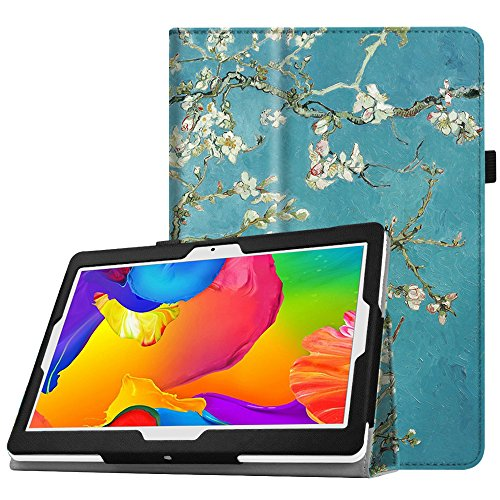 Fintie Yuntab 10.1 (K107 / K17), Elecost E10.1, Tagital 10.1, BEISTA 10.1 (K107 / M107), YELLYOUTH 10.1 Inch Android Tablet Case - Premium PU Leather Folio Cover with Stylus Holder, Blossom