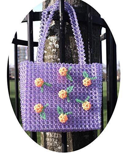Pearls bag beaded cherry box totes bag women evening party handbag bags luxury brand,4,20x20x7CM