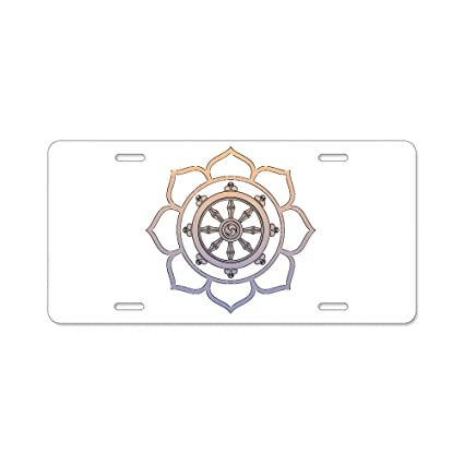 Peace and Flowers Metal Novelty License Plate Tag Sign