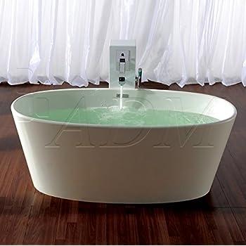 ADM Matte White Stone Resin Bathtub SW-133 - - Amazon.com