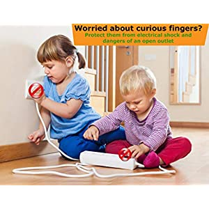 Outlet Plug Covers Clear (32 Pack) Child Proof Electrical...