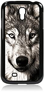Zheng caseGrey Wolf- Hard Black Plastic Snap - On Case with Soft Black Rubber Lining-Galaxy s4 i9500 - Great Quality!