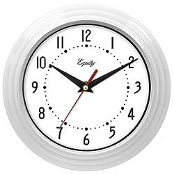 Equity by La Crosse 25011 8 Inch White Clock