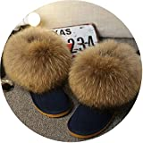 Kingwhisht Gneuine Leather Women Snow Boots Warm Winter Boots Slip-On Ankle Boots Female