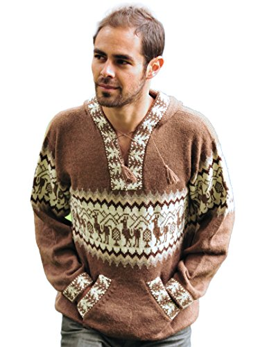 Gamboa Hooded Llamitas Alpaca Sweater - Mens Sweater Alpaca
