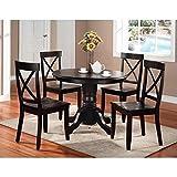Home Styles 5178-318 5-Piece Dining Set, Black Finish