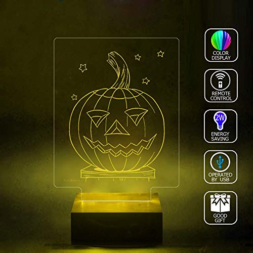 3D Illusion LED Projector Lamp Handmade,Halloween Coloring Pages