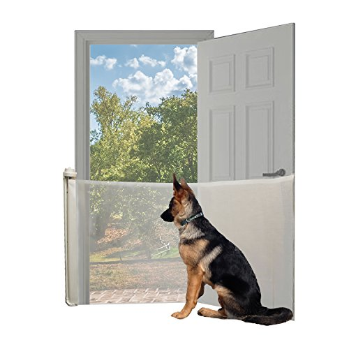Extra Wide Locking Retractable Pet Friendly Safety Gate ()