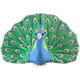 "Wildlife Artists Peacock Plush Toy 10"" H"