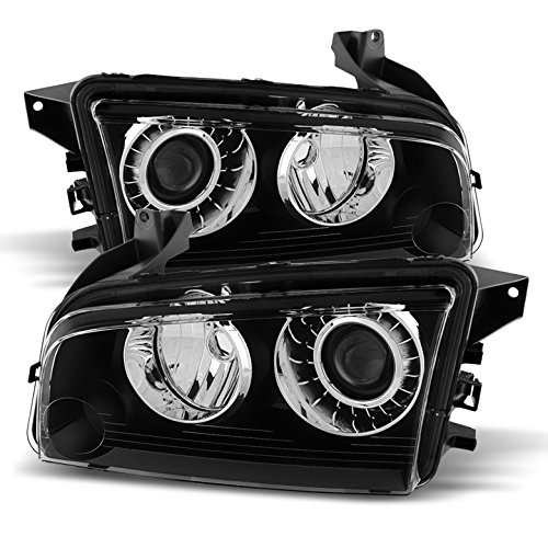 Dodge Charger HID Models Only (does not fit halogen) Headlights Black Housing With Clear Lens