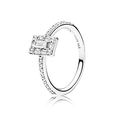 f36f32968 Amazon.com: PANDORA Luminous Ice 925 Sterling Silver Ring, Size: EUR ...