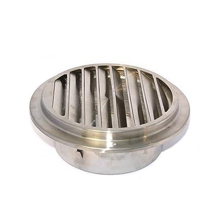 Rejilla de ventilación redonda de acero inoxidable (80 – 120 mm), 120mm