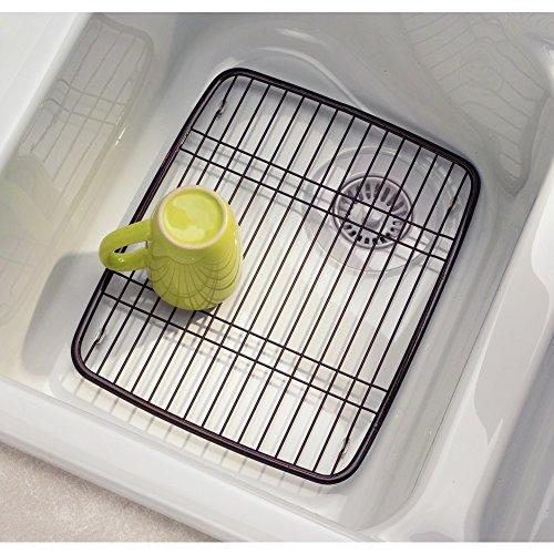 Amazon.com: InterDesign Axis Kitchen Sink Protector Grid   Bronze: Home U0026  Kitchen