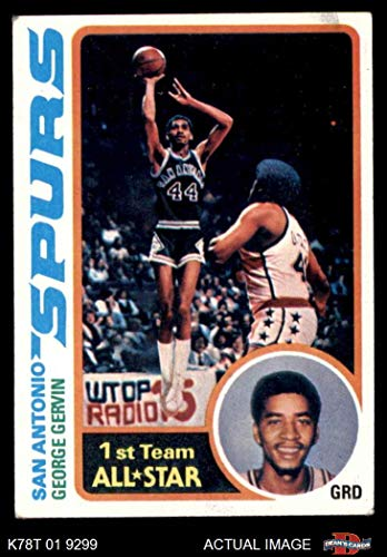 1978 Topps # 20 George Gervin San Antonio Spurs (Basketball Card) Dean's Cards 4 - VG/EX Spurs