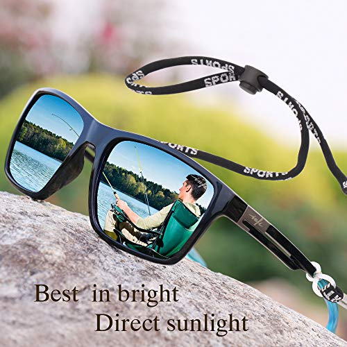 Fishing Polarized Sunglasses for Men Driving Running Golf Sports Glasses Square UV Protection Designer Style Unisex 6