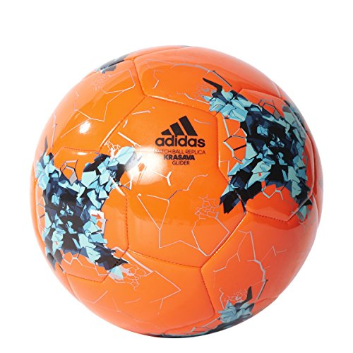 adidas Performance Confederations Cup Glider Soccer Ball, Solar Orange/Green/Energy Blue, Size (Confederations Cup)