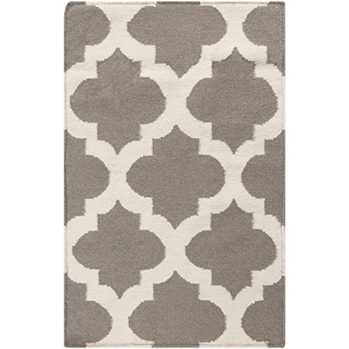 Surya Frontier FT-122 Flatweave Hand Woven 100% Wool Mushroom 2' x 3' Global Accent Rug