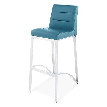Admirable Zuri Furniture Lynx Bar Stool With Metal Base Teal Creativecarmelina Interior Chair Design Creativecarmelinacom