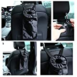 Freebily 2pcs Extra Large Car Trash Bags Washable Leak-proof Eco-friendly Car Seat-back Garbage Container Bags