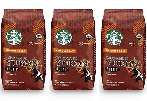 Starbucks Organic Yukon Blend Ground Coffee 10 oz (pack of 3)