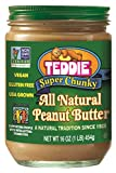 Teddie All Natural Peanut Butter, Super Chunky, 16-Ounce Jar (Pack of 4) Review