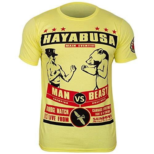 Hayabusa Gentleman Vs. Beast T-Shirt [Yellow], XL (Hayabusa T Shirt)