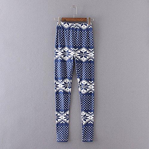 MORCHAN Femmes Knickerbockers Collants imprim Jegging Skinny Pantalon Slim Combinaisons Jeans 1 Court Casual de Pantalon gomtrique Leggings Lady Stretch Bleu q5zrqxTn