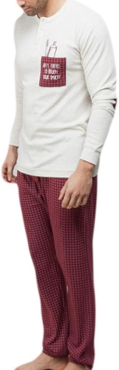 GISELA - Pijama Chico Hombre Color: Beige Talla: Medium ...