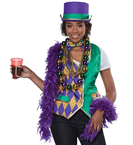 California Costumes Mardi Gras Woman Adult Costume Kit-Large/X-Large ()