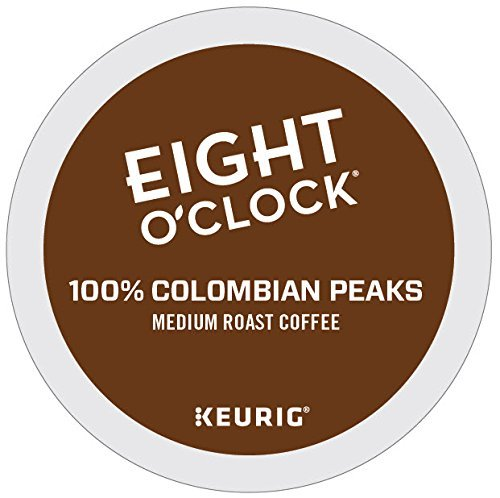 Eight O'clock Coffee 100% Colombian Keurig Individual-Serve K-Cup Pods, Medium Roast Coffee, 72 count