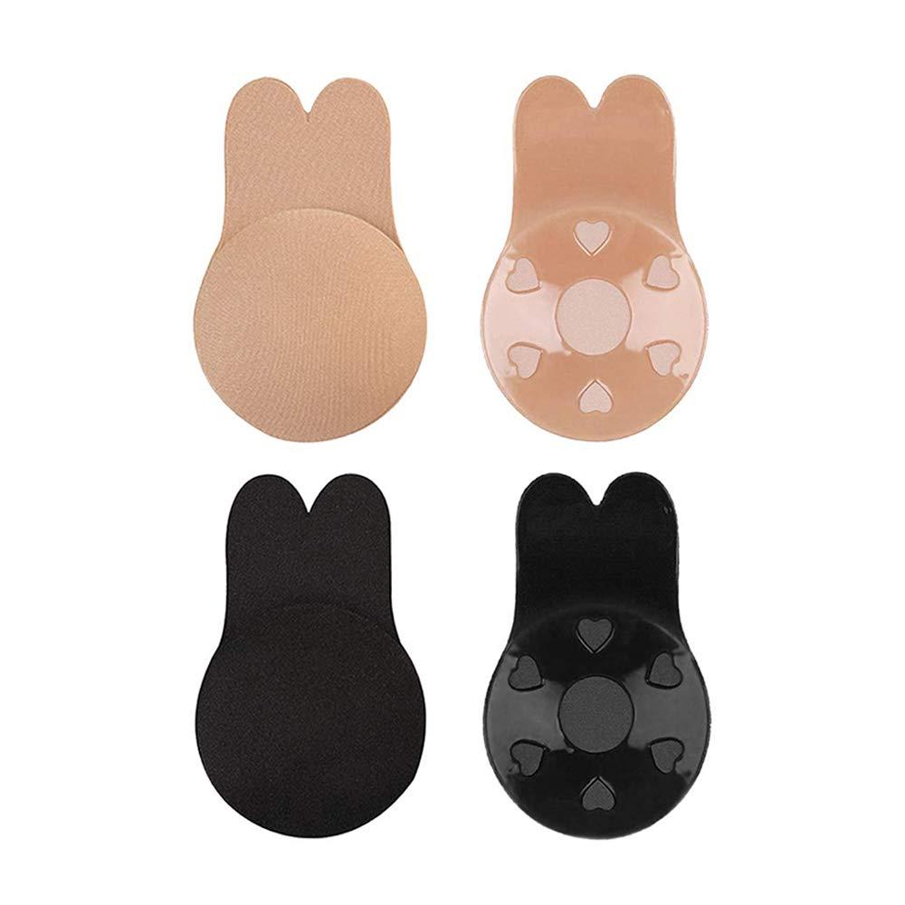 VAIPI 4 Pairs Invisible Bra for Women Lift Nipple
