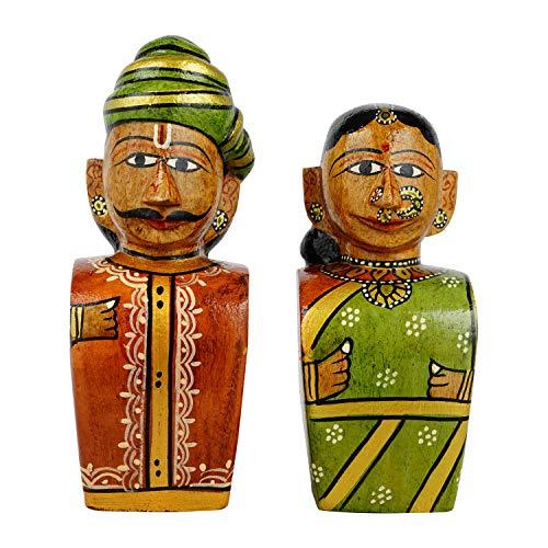 Lepakshi (an Andhra Pradesh Govt. Enterprise) Kondapalli Toy Raja Rani Handmade – 6 inchhandmade Toys/eco Friendly Toys…