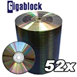 1000pcs Gigablock Cd-r 52x 700mb 80min Silver Top Premium Quality