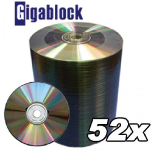 1000pcs Gigablock Cd-r 52x 700mb 80min Silver Top Premium Quality by Gigablock