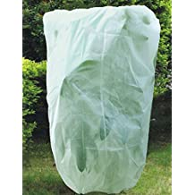 "PHI VILLA Plant Cover for Winter, 1.5 oz Fabric of 84"" x 72"", Thick Plant Protector Bags Frost Protection, 1-Pack"