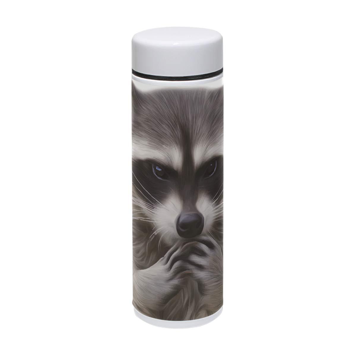 MUOOUM Cool Raccoon Art Painting Painting Painting Taza de viaje de acero inoxidable aislada al vacío, botella de agua para deportes, 7.5 onzas, caliente durante 12 horas 45bdc8