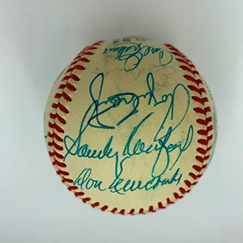 Beautiful 1955 Brooklyn Dodgers Team Signed Baseball Sandy Koufax With COA - JSA Certified - Autographed Baseballs