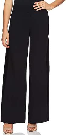 CeCe Womens Moss Velvet Inset Dressy Wide Leg Pants