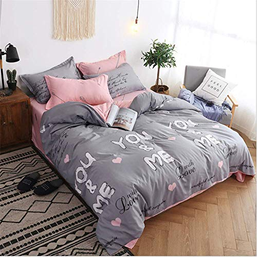 SSHHJ Bed Cover Set Cartoon Duvet Cover Adult Child Pillowcases Comforter Bedding Set A 150x200cm