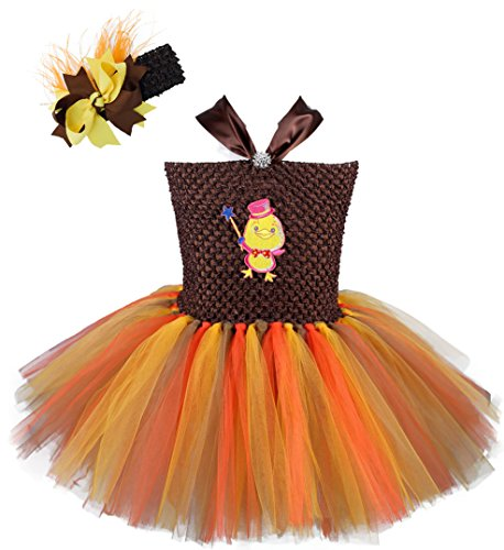 [Tutu Dreams Easter Chick Tutu Costumes for Girls (4 for 4-5 Years, Coffee Mix)] (Red Indian Princess Costume)