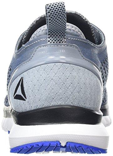 Herren Meteor Smooth Black White Vital Pewter Blue Laufschuhe Ultraknit Print Clip Grey Reebok Grau dx0wnqgd1
