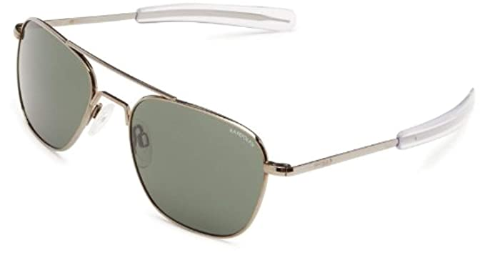 cdff03a0d59 Image Unavailable. Image not available for. Colour  Randolph AVIATOR Gun  Metal Frame (Bayonet Temple Style) ...