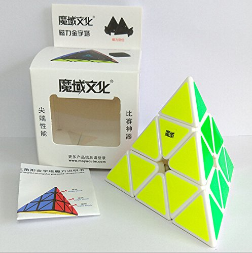 CuberSpeed MoYu Magnetic Pyraminx White Magic cube Magnetic