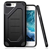 #7: iPhone 8 Plus Case, iPhone 7 Plus Case, JTCTC PC + TPU Hybrid Armor Case Shatter Scratch Resistant Extreme Protection Compatible iPhone 8 Plus/iPhone 7 Plus (Black)
