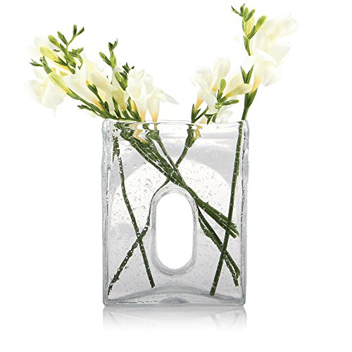 Amazon Chive Bliss Large Square Vase Clear Home Kitchen