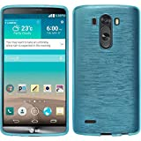 Silicone Case for LG G3 - brushed blue - Cover PhoneNatic + protective foils