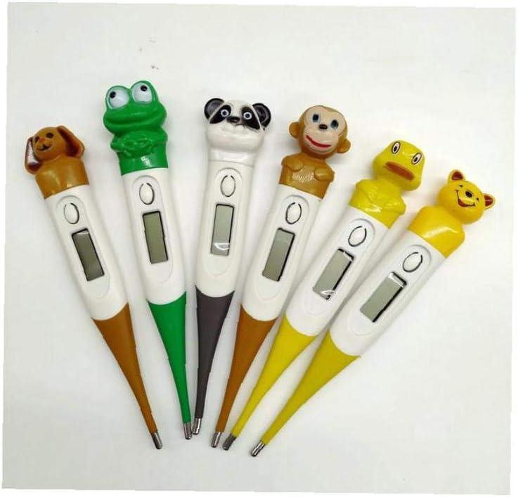 GGOOD K/örper-Cartoon-Tier-Art-Thermometer LCD-digital-Thermometer Elektronische Fieberthermometer Mit Weicher Silikon-Griff F/ür Kinder Zufallsmuster