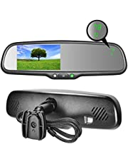 """Master Tailgaters MR-43-A1TC OEM Rear View Mirror with 4.3"""" Auto Adjusting Brightness LCD Plus Compass and Temperature-Universal Fit"""