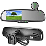 "Master Tailgaters OEM Rear View Mirror with 4.3"" Auto Adjusting Brightness LCD + Compass & Temperature - Universal Fit"